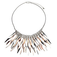 Buy John Lewis Metallic Short Fan Necklace, Silver/Rose Gold Online at johnlewis.com