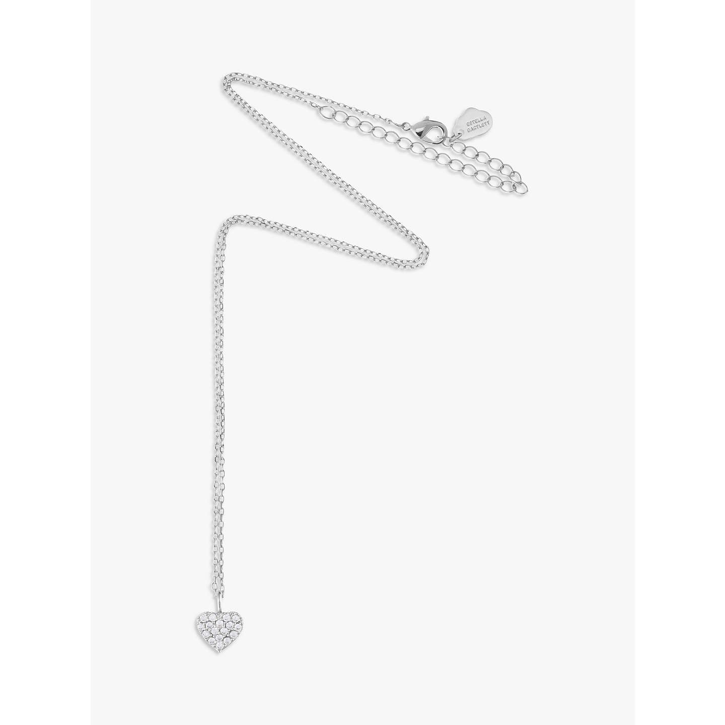BuyEstella Bartlett Diamanté Sparkle Heart Pendant Necklace, Silver Online at johnlewis.com