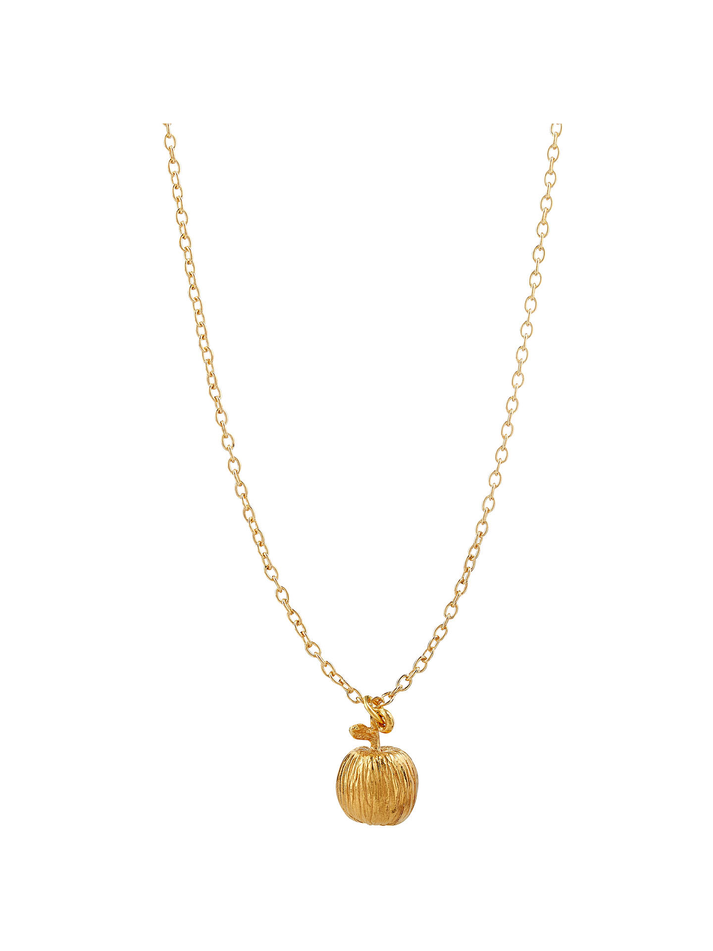 Mirabelle 22ct gold plated simple long chain apple pendant necklace buymirabelle 22ct gold plated simple long chain apple pendant necklace gold online at johnlewis aloadofball Gallery