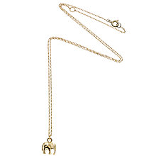 Buy Estella Bartlett Midnight Jungle Elephant Pendant Necklace Online at johnlewis.com
