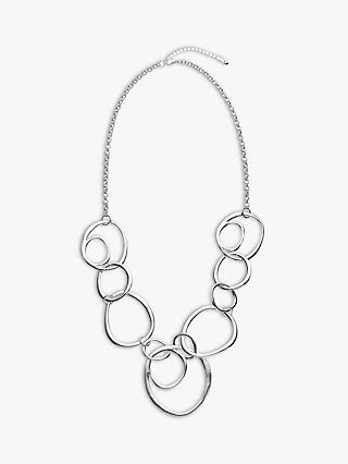 John Lewis & Partners Circle Abstract Long Necklace, Silver