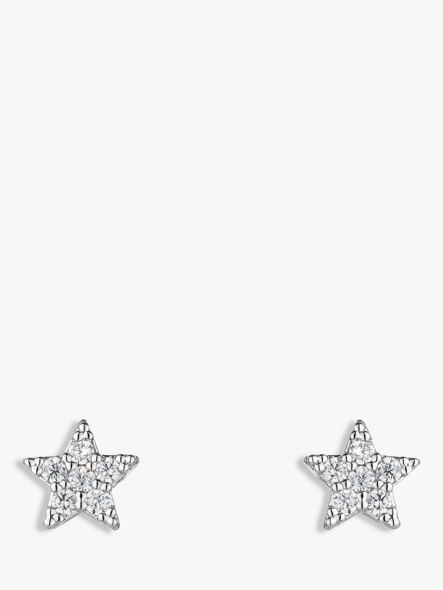 BuyEstella Bartlett Star Stud Earrings, Silver Online at johnlewis.com