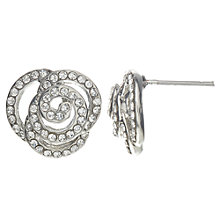 Buy John Lewis Rose Stud Earrings, Silver Online at johnlewis.com