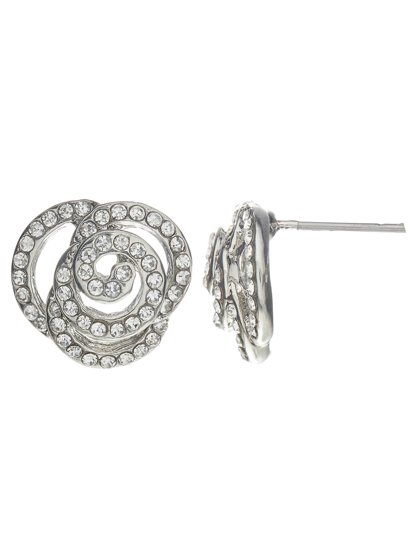BuyJohn Lewis & Partners Rose Stud Earrings, Silver Online at johnlewis.com