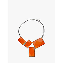 Buy One Button 4 Large Rectangular Facets Necklace, Orange Online at johnlewis.com