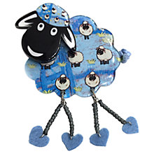Buy One Button Resin Sheep Brooch, Blue Online at johnlewis.com