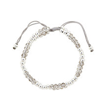 Buy John Lewis Faceted and Polished Bead Friendship Bracelet, Grey/Silver Online at johnlewis.com