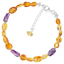 Buy Goldmajor Amber and Amethyst Bracelet, Cognac/Purple Online at johnlewis.com