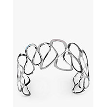 Buy Nina Breddal Wavy Cuff Bangle, Silver Online at johnlewis.com
