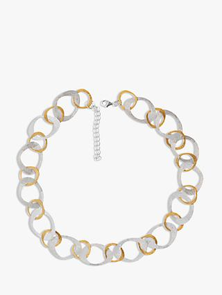 Nina B Open Link Necklace, Silver/Gold