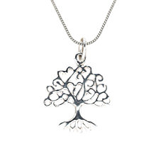 Buy Nina B Sterling Silver Oak Tree Pendant Necklace, Silver Online at johnlewis.com