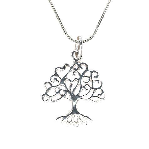 Buy nina b sterling silver oak tree pendant necklace silver buy nina b sterling silver oak tree pendant necklace silver online at johnlewis mozeypictures Choice Image