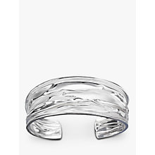 Buy Nina Breddal Wrinkled Cuff Bangle, Silver Online at johnlewis.com