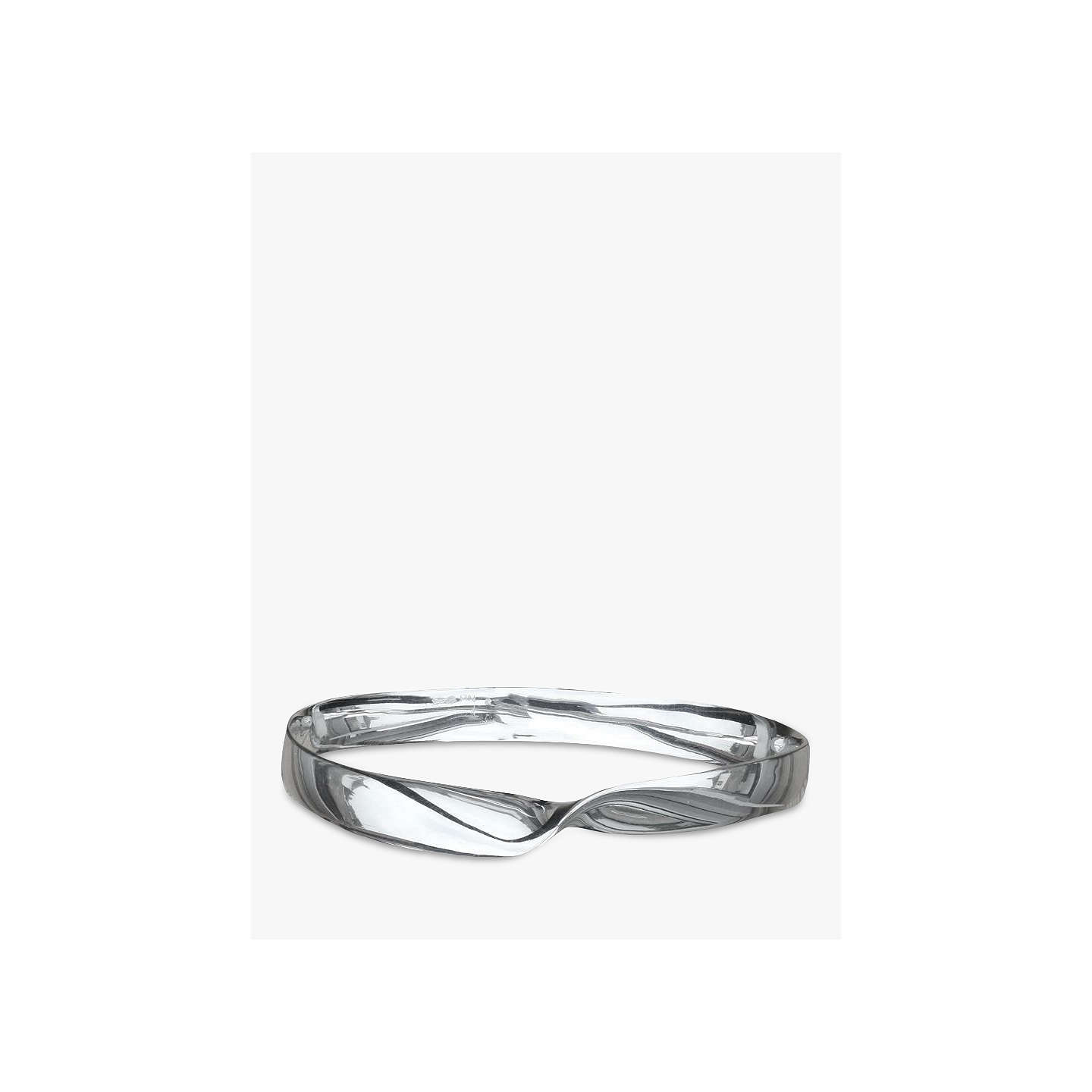 BuyNina B Solid Sterling Silver Bangle, Silver Online at johnlewis.com