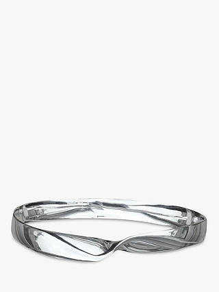 Buy Nina B Solid Sterling Silver Bangle, Silver Online at johnlewis.com