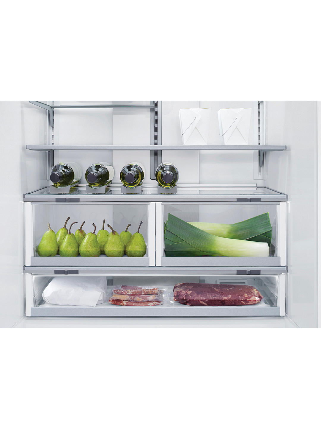 Buy Fisher & Paykel RS90A1 Integrated 75/25 Fridge Freezer, Fixed Door Hinge, A+ Energy Rating, 90cm Wide Online at johnlewis.com