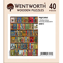 Buy Wentworth Wooden Puzzles High Jinks! Bookcase Jigsaw Puzzle, 40 pcs Online at johnlewis.com