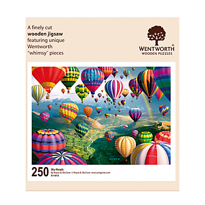 Image of Wentworth Wooden Puzzles Sky Roads Jigsaw Puzzle, 250 Pieces