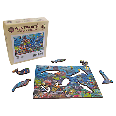 Wentworth Wooden Puzzles Oceana Mini Jigsaw Puzzle, 40 pcs