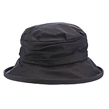 Buy Olney Annabelle Waxed Cotton Ruched Rain Hat, Navy Online at johnlewis.com