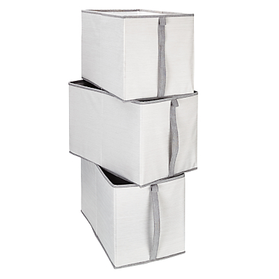 House by John Lewis Mix It Large Storage Boxes, Set of 3