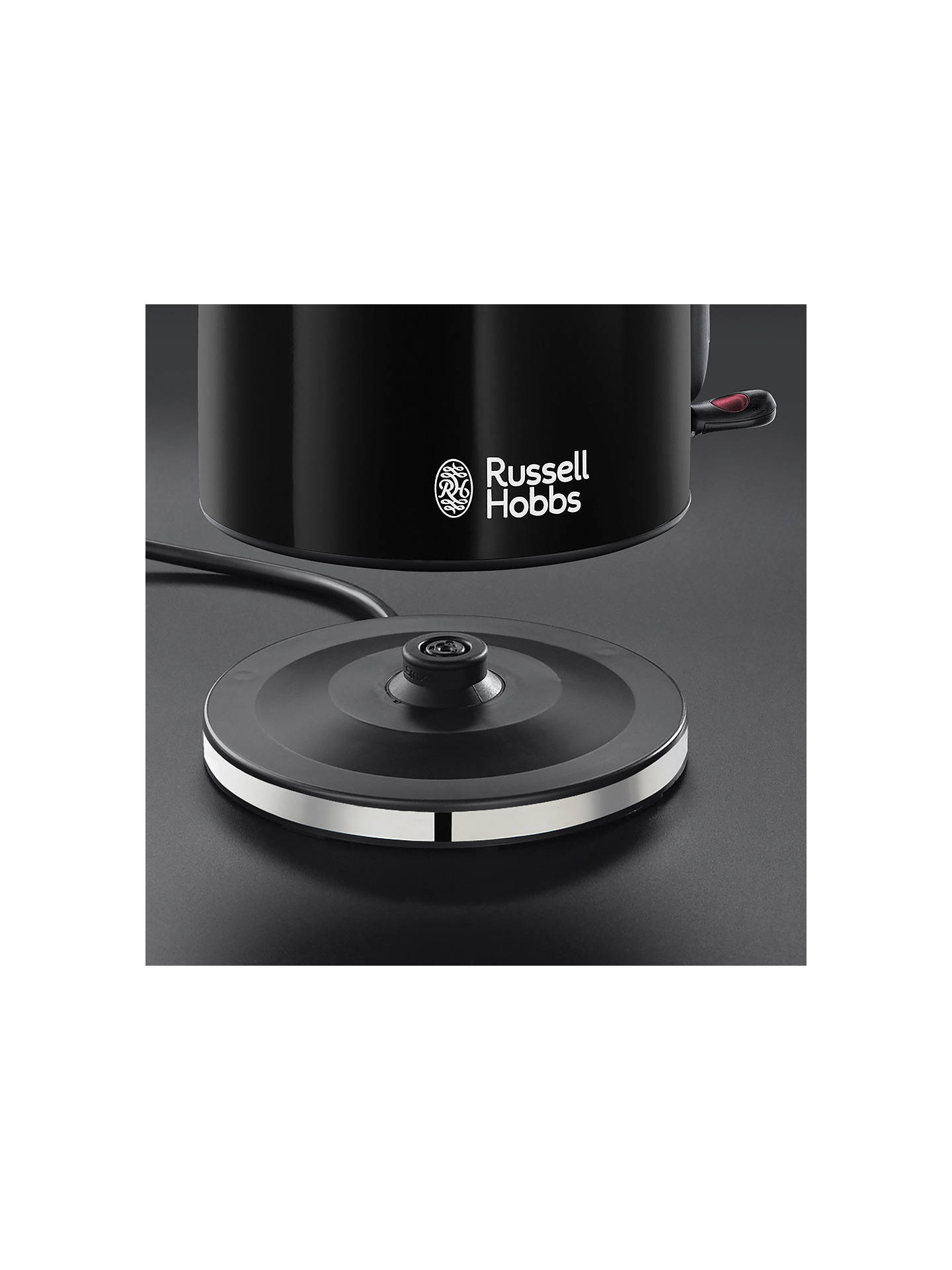 BuyRussell Hobbs Colours Plus Kettle, Black Online at johnlewis.com