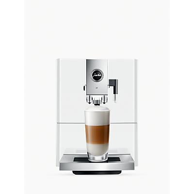 Jura A7 Bean-to-Cup Automatic Coffee Machine, Piano White