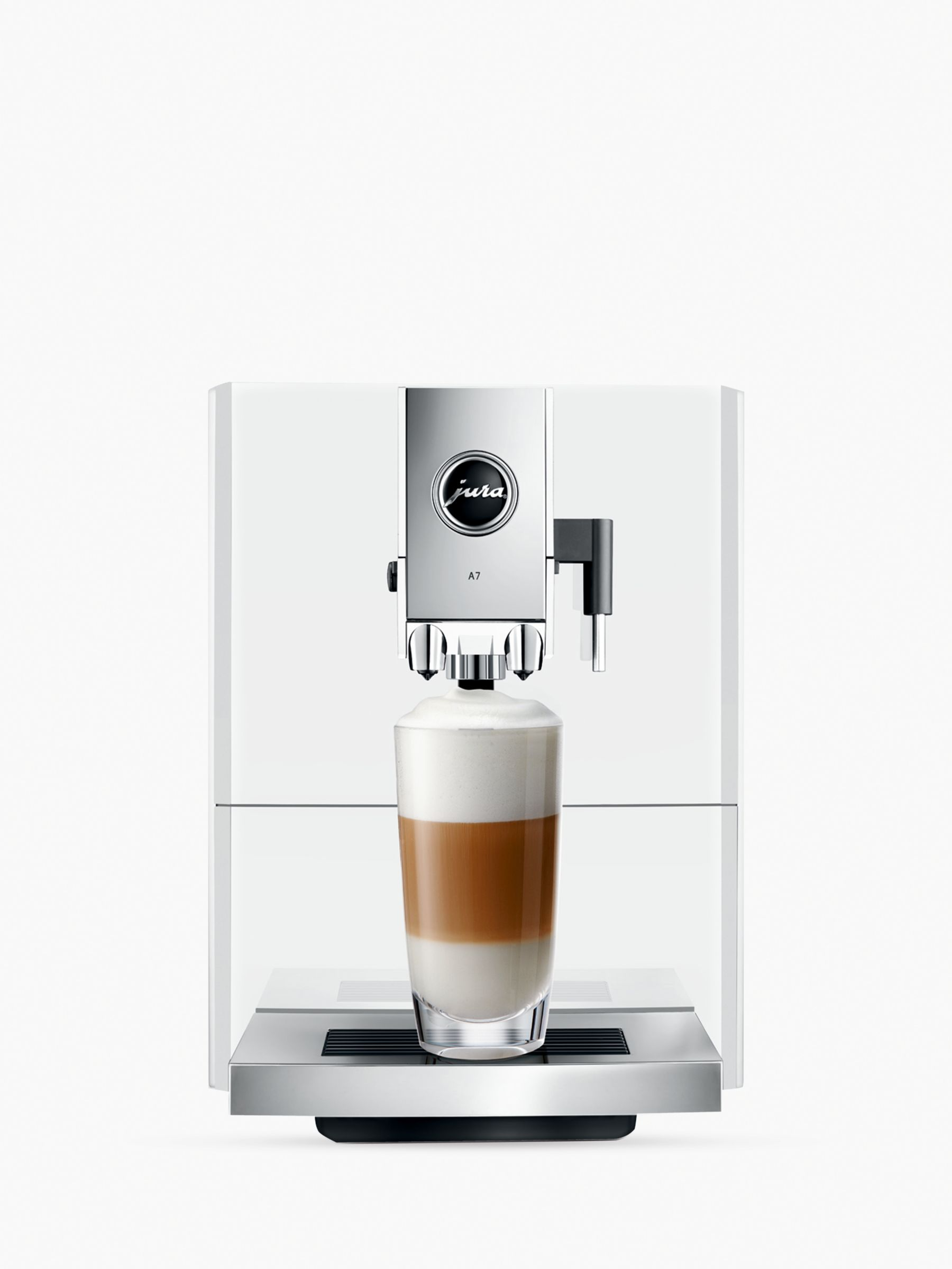 jura a7 bean to cup automatic coffee machine piano white bluewater. Black Bedroom Furniture Sets. Home Design Ideas