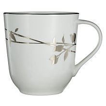 Buy John Lewis Contour Silver Bone China Garland Mug, White / Silver Online at johnlewis.com