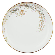 Buy John Lewis Contour Gold Willow 21cm Plate, White / Gold Online at johnlewis.com