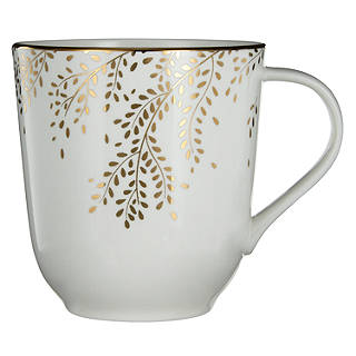 John Lewis Contour Gold Bone China Willow Mug White / Gold  sc 1 st  John Lewis : john lewis christmas tableware - pezcame.com
