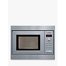 Buy Bosch HMT75M551B Built-In Microwave Oven, Brushed Steel Online at johnlewis.com