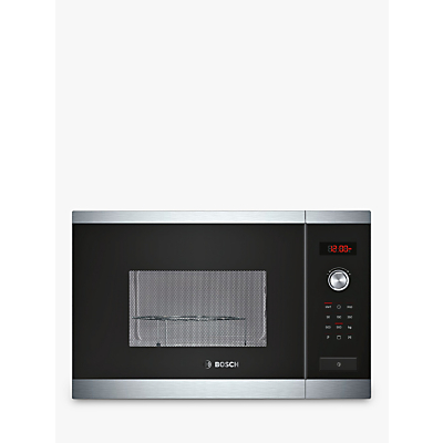 Image of Bosch HMT84G654B Built-In Microwave Oven with Grill, Brushed Steel