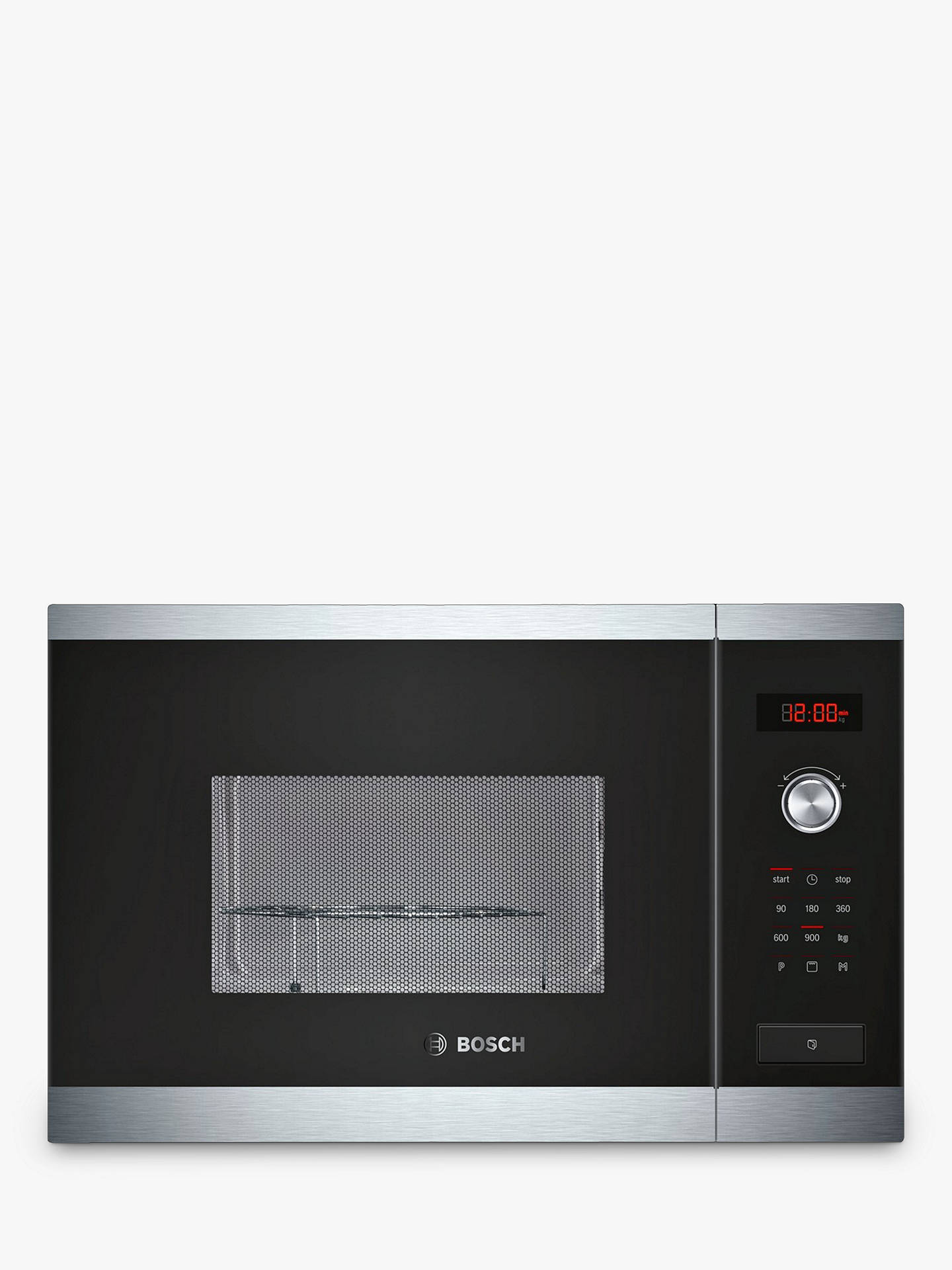 BuyBosch HMT84G654B Built-In Microwave Oven with Grill, Brushed Steel  Online at johnlewis.