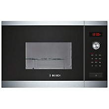 Buy Bosch HMT75G654B Built-In Microwave with Grill, Brushed Steel Online at johnlewis.com
