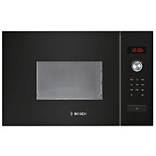 Buy Bosch HMT75M664B Built-In Microwave Oven, Black Online at johnlewis.com