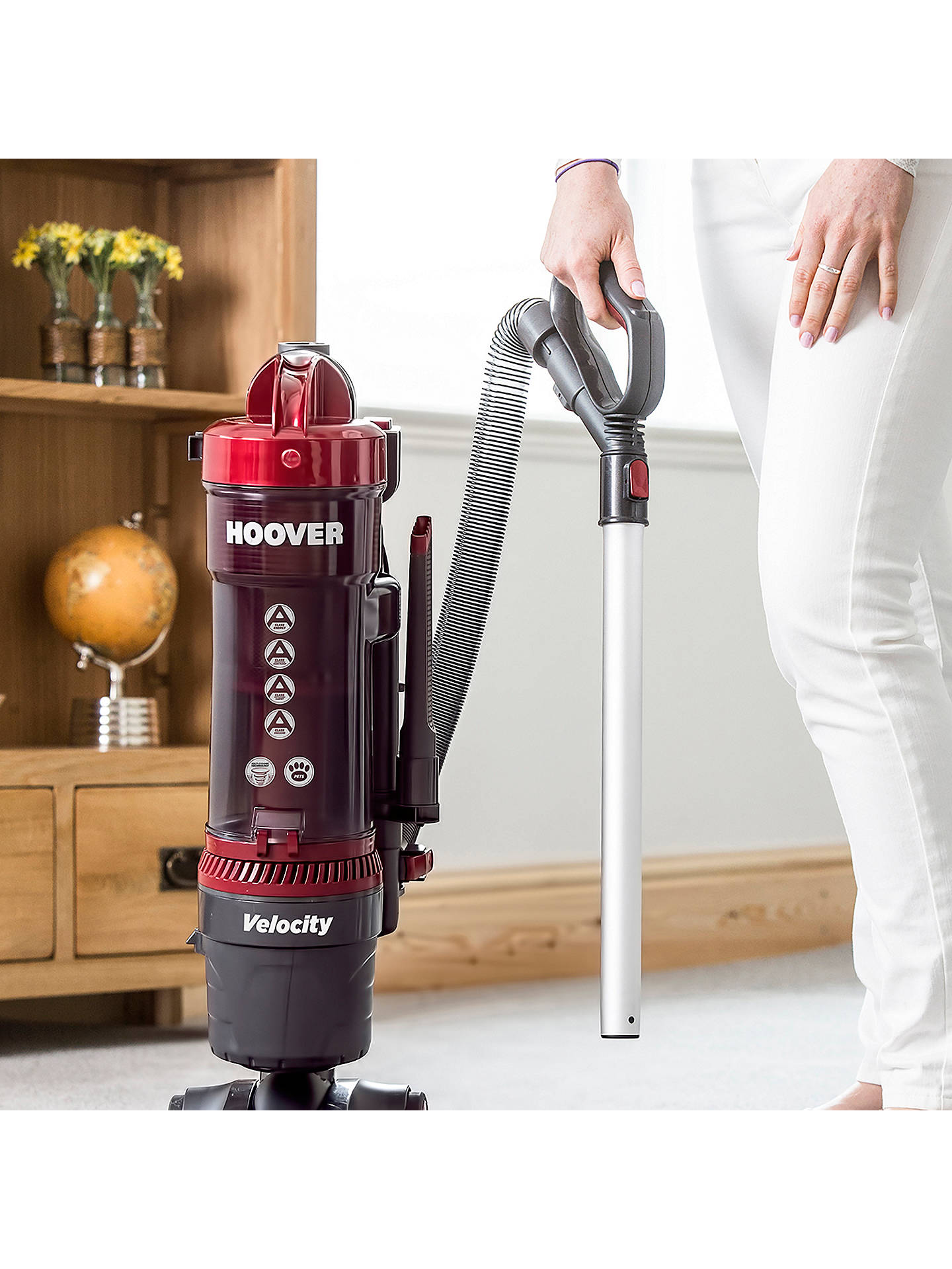 Hoover Velocity Bagless Pets Upright Vacuum Cleaner at John