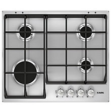 Buy AEG HG654350SM Gas Hob, Stainless Steel Online at johnlewis.com