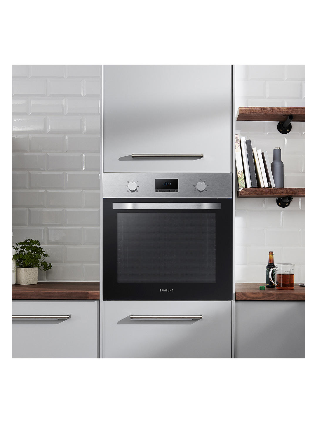 Buy Samsung NV70K1340BS/EU Built-In Single Oven, Stainless Steel Online at johnlewis.com