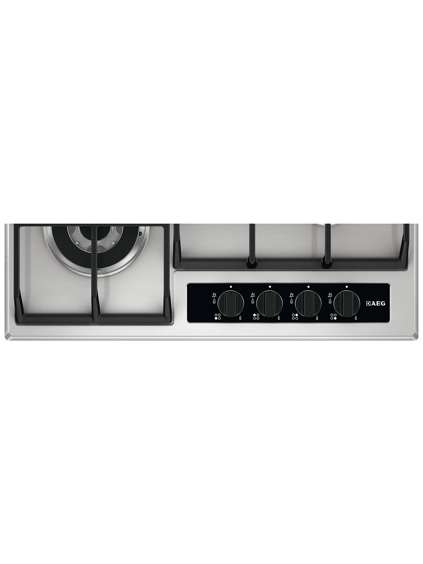BuyAEG HG654550SY Gas Hob, Stainless Steel Online at johnlewis.com