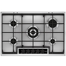 Buy AEG HG75SY5450 Gas Hob, Stainless Steel Online at johnlewis.com