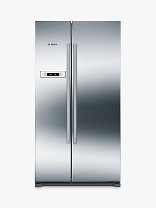 Bosch KAN90VI20G American Style Fridge Freezer, A+ Energy Rating, 90cm Wide, Stainless Steel