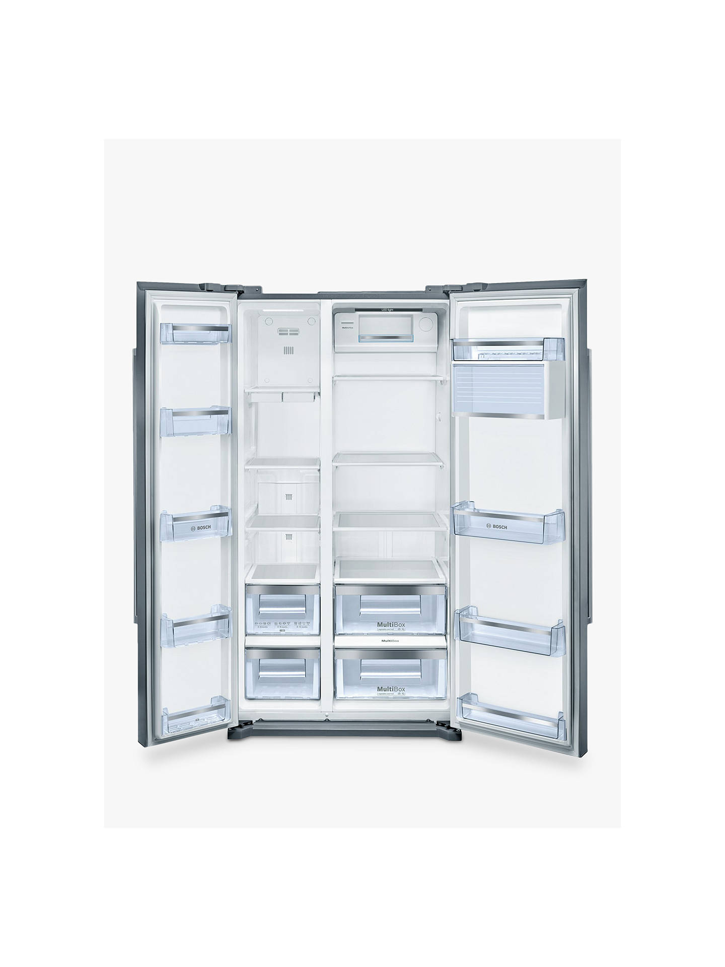 BuyBosch KAN90VI20G American Style Fridge Freezer, A+ Energy Rating, 90cm Wide, Stainless Steel Online at johnlewis.com