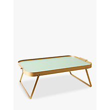 Buy Kaymet Lap Tray, Pastel Green / Gold Online at johnlewis.com
