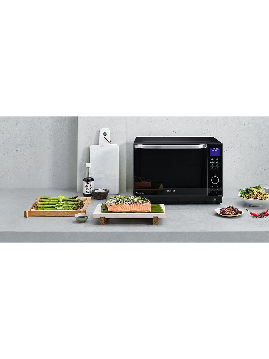 Buy Panasonic NN-DS596BBPQ Freestanding 4-in-1 Steam Combination Microwave Oven with Grill, Black Online at johnlewis.com