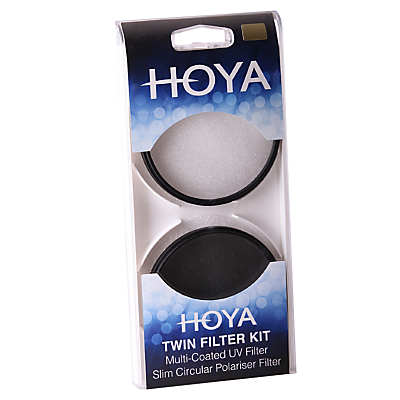 Image of Hoya 55mm Twin Lens Filter Pack With UV & Circular Polariser Filter