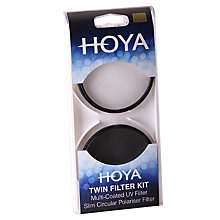 Buy Hoya 55mm Twin Lens Filter Pack With UV & Circular Polariser Filter Online at johnlewis.com