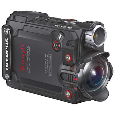 Olympus Tough TG-Tracker Waterproof Action Camera, 4K Ultra HD, 7.2MP, Ultra-Wide Angle Fixed Lens, Wi-Fi With 1.5 Flip Monitor, Black