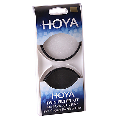 Image of Hoya 58mm Twin Lens Filter Pack With UV & Circular Polariser Filter