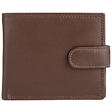 Buy John Lewis Leather Bifold Tab Zip Pocket Wallet, Brown Online at johnlewis.com